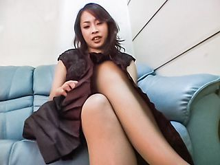 Reiko Kano pretty Asian babe with big tits in hot solo session
