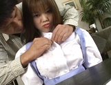 Tsubasa Okuna, hot Asian maid gets big tits exposed and licked picture 11