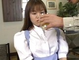 Tsubasa Okuna, hot Asian maid gets big tits exposed and licked
