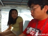 Japanese Av Idol Ran Asakawa Toys Fun In A Van picture 12