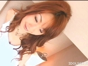 Japanese AV Model Enjoys Getting A Load Of Cum On Her Tits
