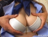 Japanese AV Model Gets Her Big Tits Fondled Before A Fucking