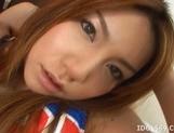 Japanese AV Model Gets Her Face Covered In Cum