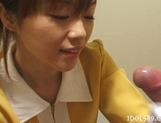 Japanese AV Model Gives A Blowjob In An Elevator picture 8