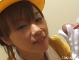 Japanese AV Model Gives A Blowjob In An Elevator picture 9