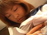 Japanese AV Model Is A Horny Gal Who Enjoys Pleasuring Herself picture 2