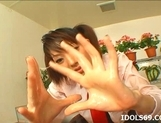 Japanese Co Ed Sana Double Handjob Tramp Likes To Double Hand Cock picture 11