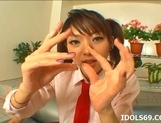 Japanese Co Ed Sana Double Handjob Tramp Likes To Double Hand Cock picture 12