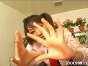 Japanese Co Ed Sana Double Handjob Tramp Likes To Double Hand Cock