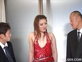 Japanese Glamour Girl Yukino Double Teamed Babe