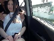 Busty babe enjoys a kinky solo action