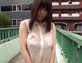 Nishikawa Rion opens her legs to get her hairy twat seen picture 11