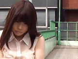 Nishikawa Rion is fingeringg her hairy twat on a camera