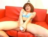 Kaomi Amamiya Masturbate Toying Asian Enjoys Showing Off Her Toys