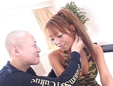 Gorgeous Asian babe gets her both holes filled