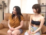 Kinky Japanese lesbos enjoy a hot threesome