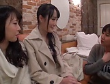Arousing Minato Riku, horny Asian teen in all girl threesome picture 11
