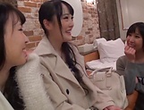 Arousing Minato Riku, horny Asian teen in all girl threesome picture 12