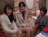 Arousing Minato Riku, horny Asian teen in all girl threesome picture 13