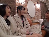Arousing Minato Riku, horny Asian teen in all girl threesome picture 14