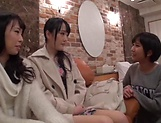 Arousing Minato Riku, horny Asian teen in all girl threesome picture 15