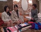 Arousing Minato Riku, horny Asian teen in all girl threesome