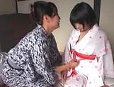 Small tits babe Nomiku Abe enjoys some lesbo action