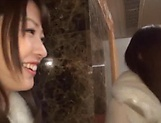 Enticing Asian teen, Minato Riku in raunchy lesbian threesome picture 1