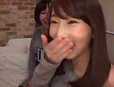 Enticing Asian teen, Minato Riku in raunchy lesbian threesome
