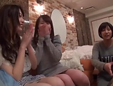 Enticing Asian teen, Minato Riku in raunchy lesbian threesome picture 8