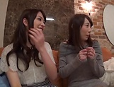 Enticing Asian teen, Minato Riku in raunchy lesbian threesome picture 9