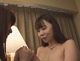 Kinky lesbians finger and play with toys picture 15