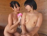 Incredibly fine Asian darlings get naughty in tub