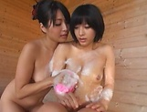 Incredibly fine Asian darlings get naughty in tub picture 12