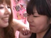Kinky Tokyo babes enjoys fingering wet pussy
