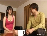 Mai Nadasaka Enjoys It When Her Big Tits Get Loads Of Oral Attention picture 12
