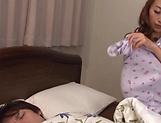 Naughty Japanese AV Model awakens and masturbates