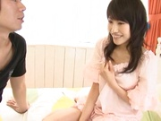 Skinny milf with hairy pussy Airi Mikami enjoys licking and doggy-style bang