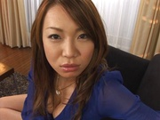 Cock-starved Japanese milf Misaki Aso gives a ride on pov