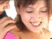 Sexy woman with flawless body Azusa Isshiki fucked from behind