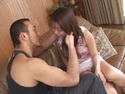 Mihi Anzai reveals her pussy for a horny guy