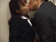 Lovely Japanese female teacher enjoys crzy sex with a handsome guy