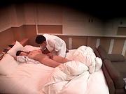 Stunning Honma Yuri sensual sex in bed with stud