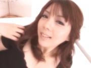 Sensual bimbo Maki Mizusawa getting her cravings satisfied