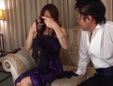 Glorious Japanese AV model, a milf with hot body gets involved into a kinky gangbang picture 5