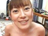 Cute MILF Minami Hoshikawa gives her hubby a nice tit fuck picture 11