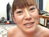 Cute MILF Minami Hoshikawa gives her hubby a nice tit fuck picture 14
