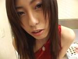 Tall Japanese AV model Noa sucks cock gets pussy fucked doggie style