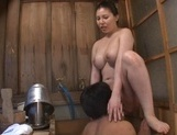 Amazing Japanese sweetie with big tits Sophia Takigawa gets pussy licked picture 17
