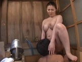 Amazing Japanese sweetie with big tits Sophia Takigawa gets pussy licked picture 18